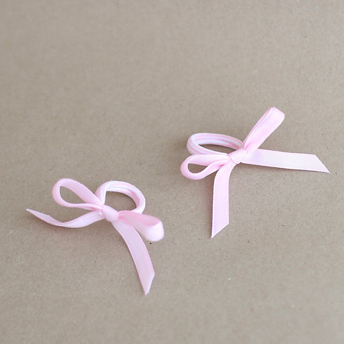 Baby pink ribbons BABY -hairbands x 2