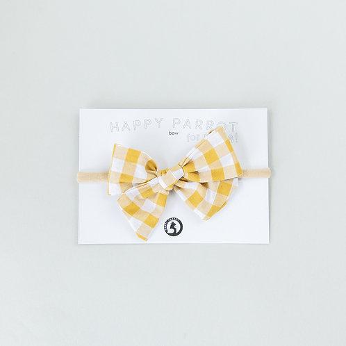 Yellow vichy -BOYS Bow tie