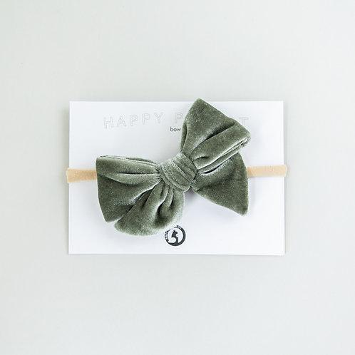 Sage velvet -BOYS Bow tie