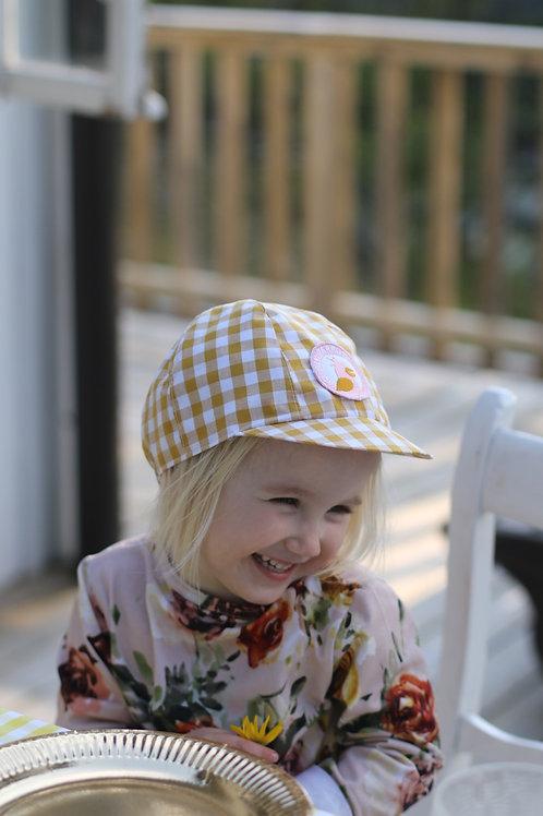 Kids cap Yellow vichy