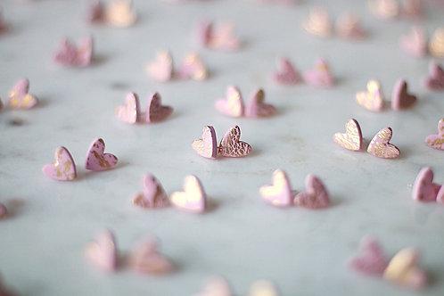 Tiger heart earrings