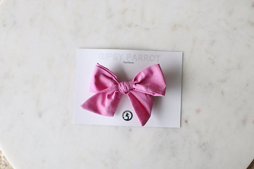 Candy pink bow pin