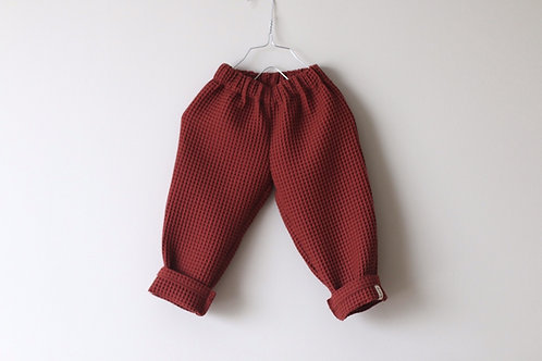 Waffle pants Maroon
