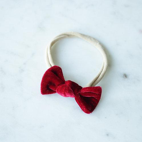 Raspberry velvet baby knot-panta