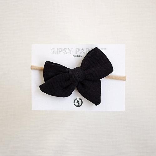 Black muslin Rusettipanta