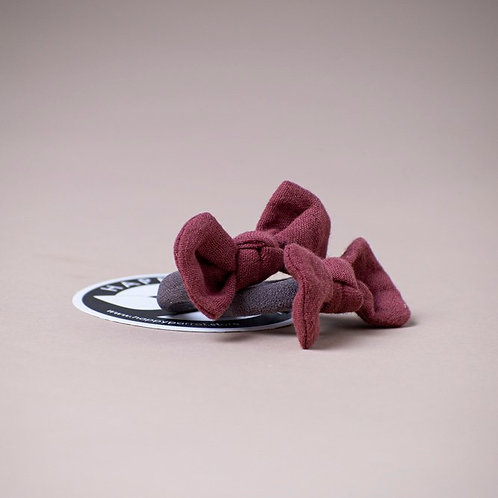 Mauve/ granit hairbands x2
