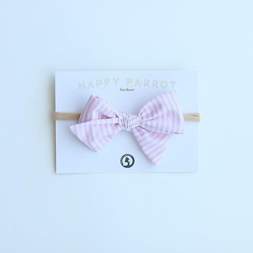 Light pink stripes bow strap