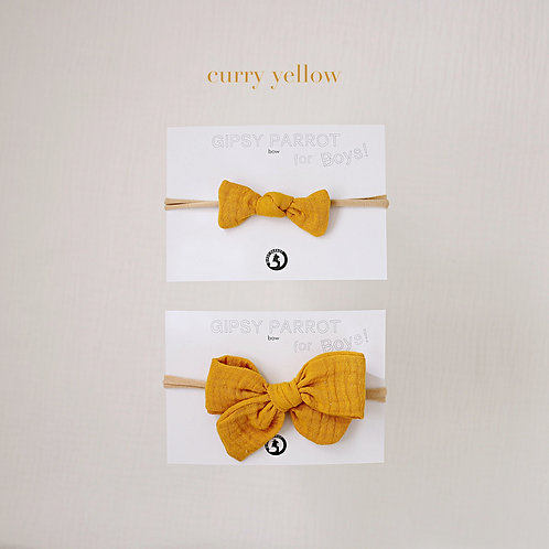 Curry yellow / Boys bowtie