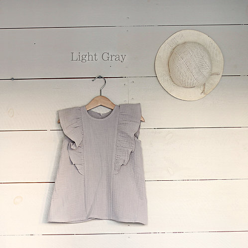 Ruffle Dress Mini Light Gray