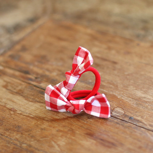 Red gingham hairbands