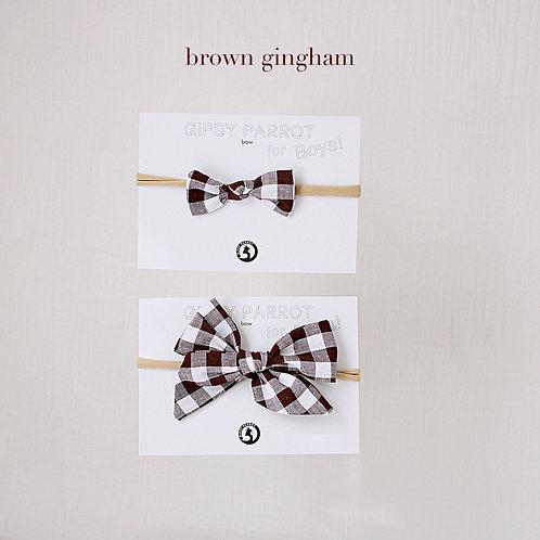 Brown gingham / Boys bowtie
