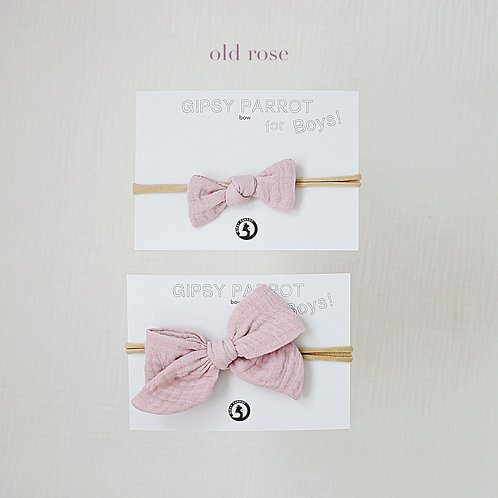 Old rose / Boys bowtie