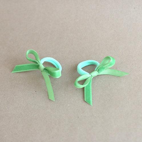 Granny smith ribbons BABY -hairbands x 2