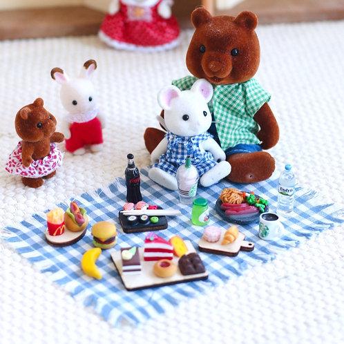 Piknik -nukkekodin ruoka
