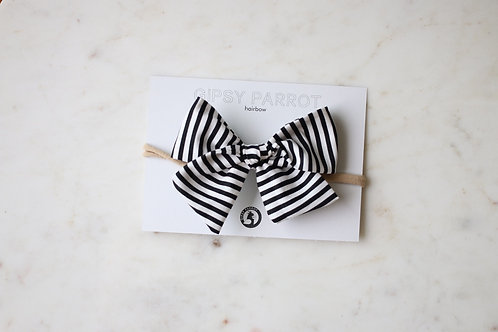 B&W stripes rusettipanta