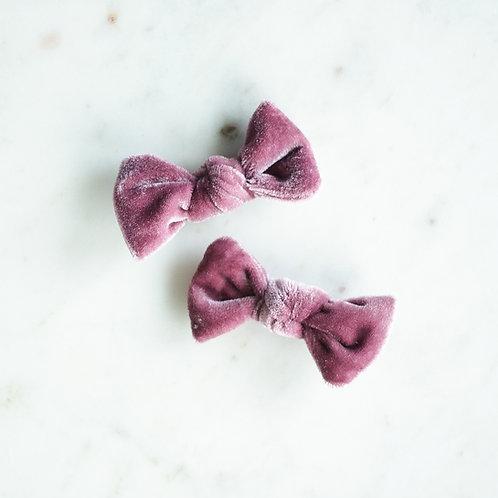 Heather velvet babyknot -pinnit