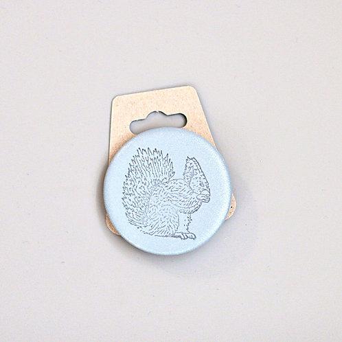 Squirrel, reflective badge