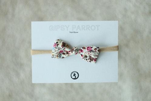 Vintage garden baby knot -panta