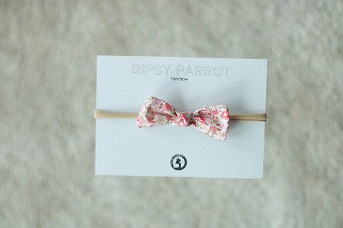 Pink flowers baby knot -panta