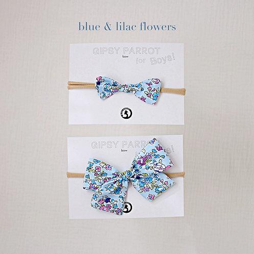 Blue & lilac / Boys bowtie