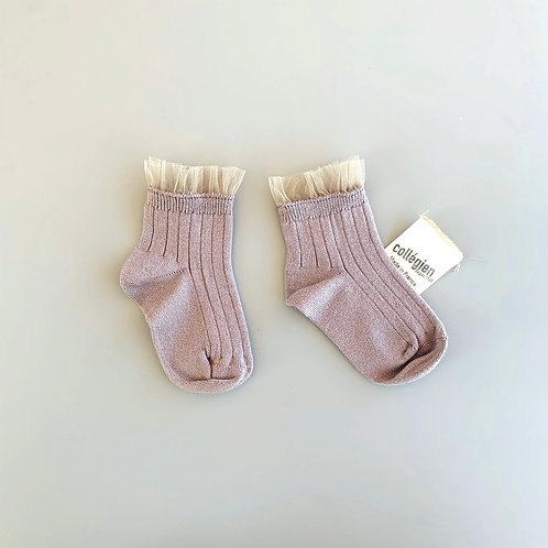 Tulle socks pale