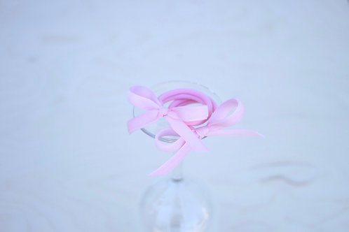 Light rose ribbon x 2
