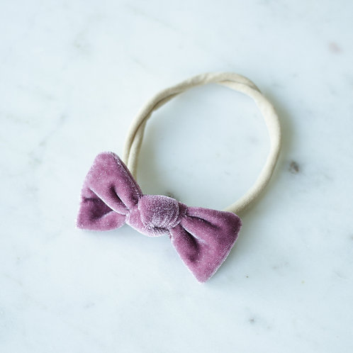 Heather velvet baby knot-panta