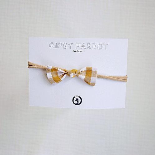 Yellow Vichy Baby knot -panta