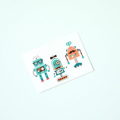 Robotit -leikkitatuointi x 3