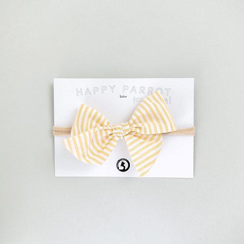 Lemon stripes -BOYS Bow tie