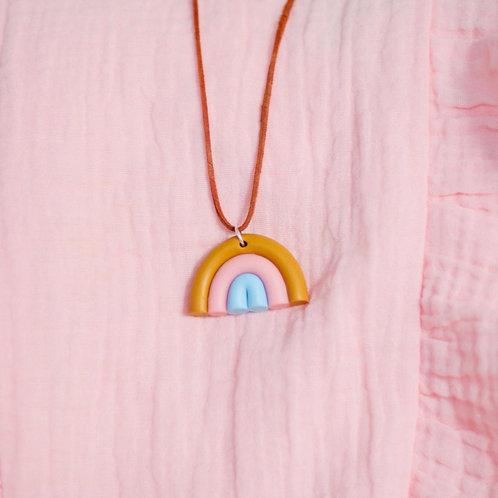 Rainbow necklace Bubblegum