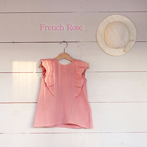 Ruffle Dress Mini French Rose