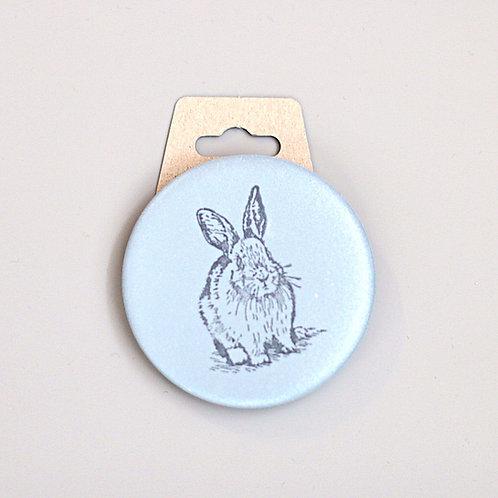 Big bunny, reflective badge
