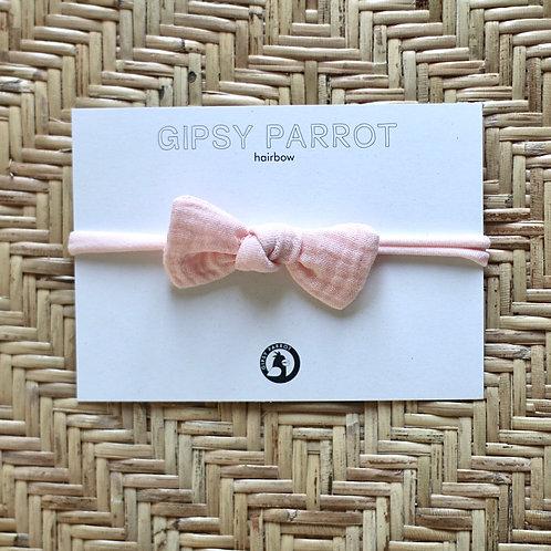 All Peachy Pink baby knot -panta