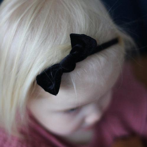 All Black Velvet Baby knot -panta