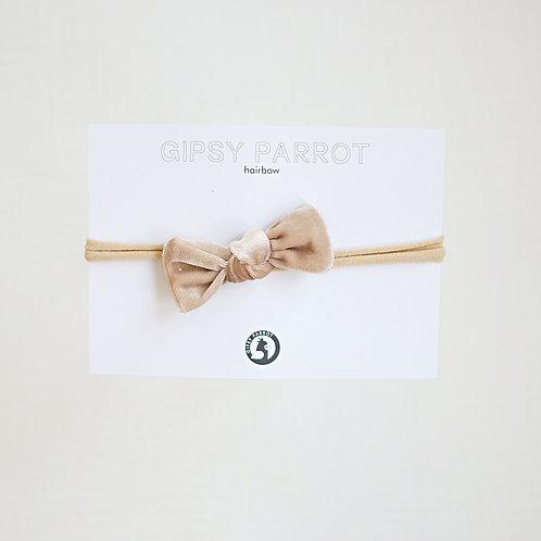 Champagne velvet Baby knot -panta