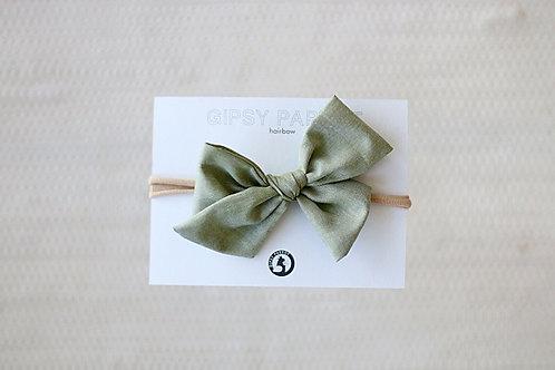 Olive green rusettipanta