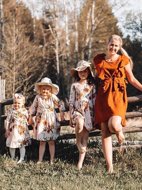 Breastfeeding dress Rust