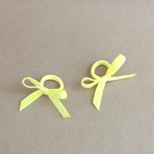 Lemon ribbons BABY -hairbands x 2