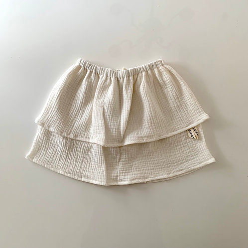 Fresh white / Double gauze skirt