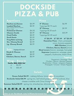 Dockside Pizza & Pub Menu