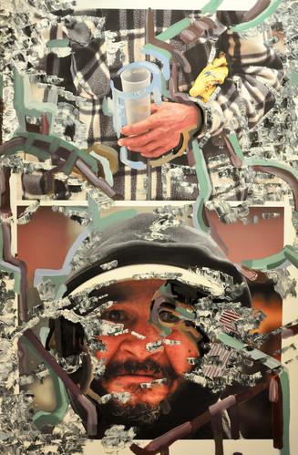 """Joseph"" óleo sobre fotografía digital impresa sobre lienzo."