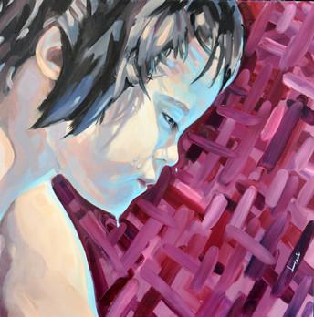 óleo sobre lienzo 70 x 70 cm