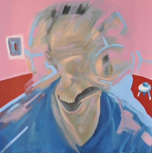 """ El ""comedor"" insaciable de Bacon"" óleo sobre tela 70 x 70 cm"