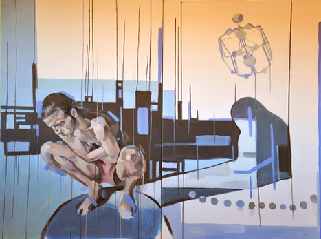 """""""Norma y paraiso"""" óleo sobre tela 195 x 260 cm"""