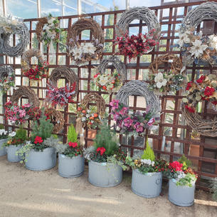 Wicker wreaths