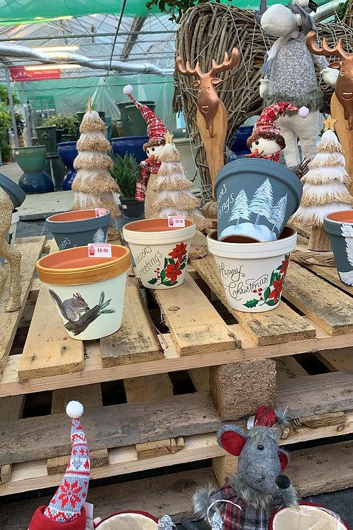 Handpainted pots