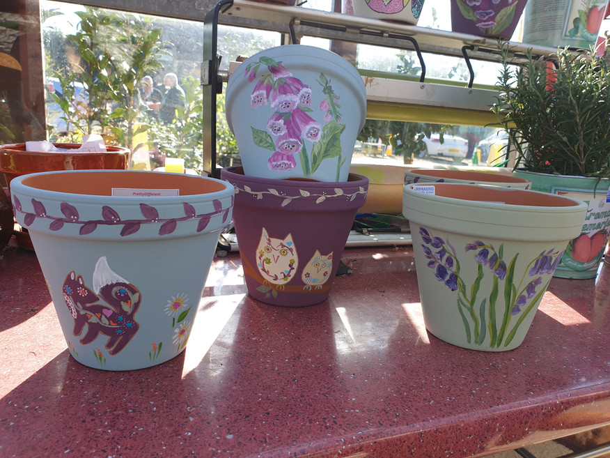 Local handpainted pots