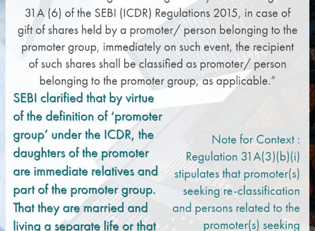 Children of promoter not entitled to reclassification by virtue of marriage or independence