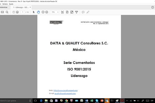 ISO 9001:2015 - Liderazgo - Enfoque al Cliente